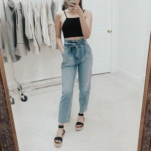 Abercrombie & Fitch | High Rise Paperbag Mom Jeans